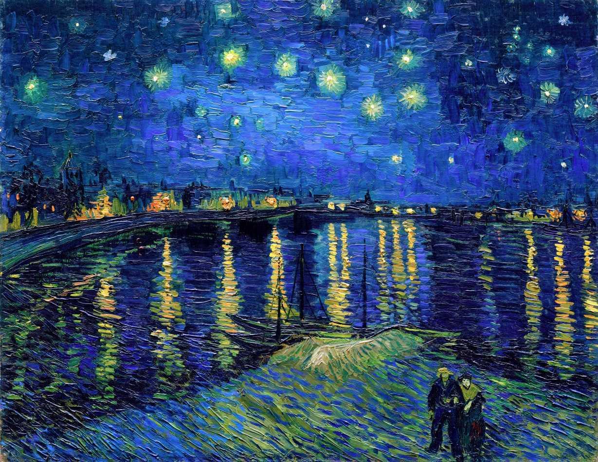 Noite Estrelada Sobre o Ródano