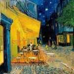 O Terraço do Café à Noite