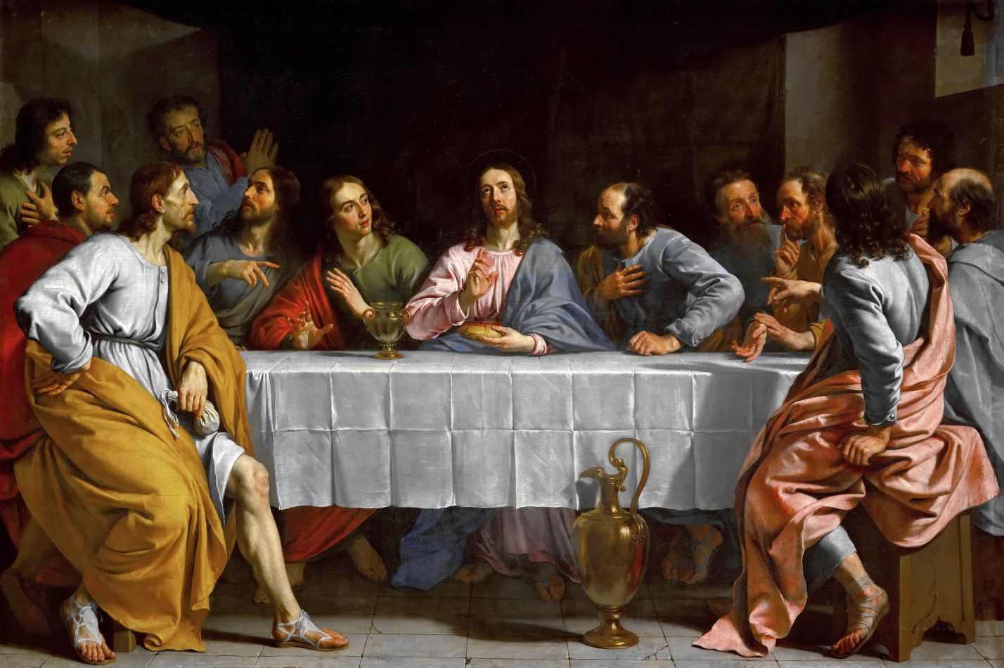 santa ceia 1652 de philippe de champaigne tela para quadro na santhatela santa ceia 1652 de philippe de champaigne tela para quadro na santhatela