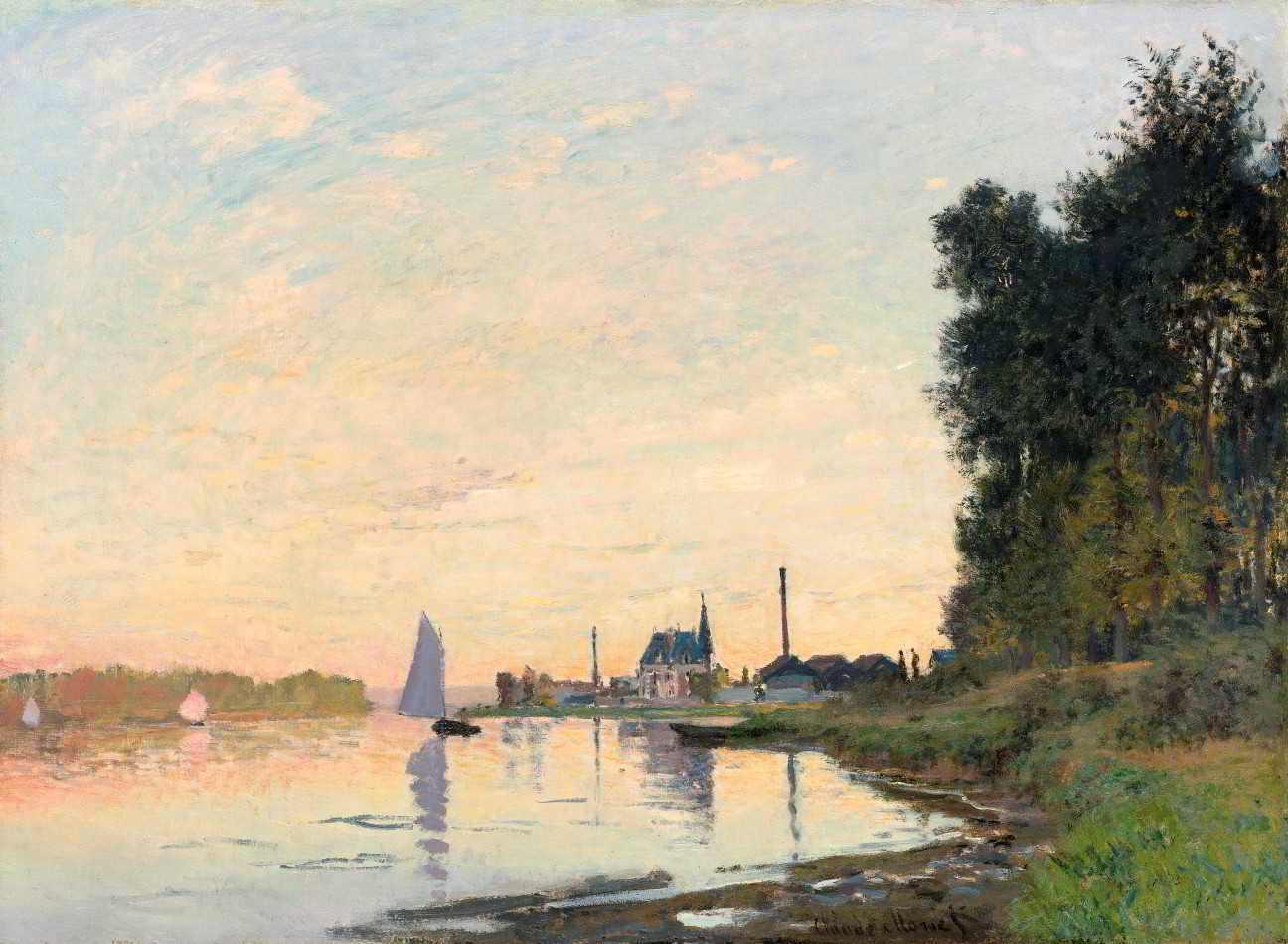 Argenteuil à Tardinha de Claude Monet | Tela para Quadro na Santhatela