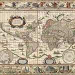 Mapa Mundi Antigo 1635