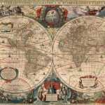 Mapa Mundi Antigo 1641