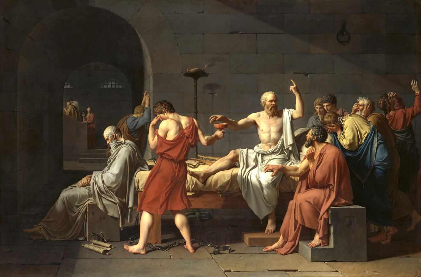 Resultado de imagem para a morte de sócrates