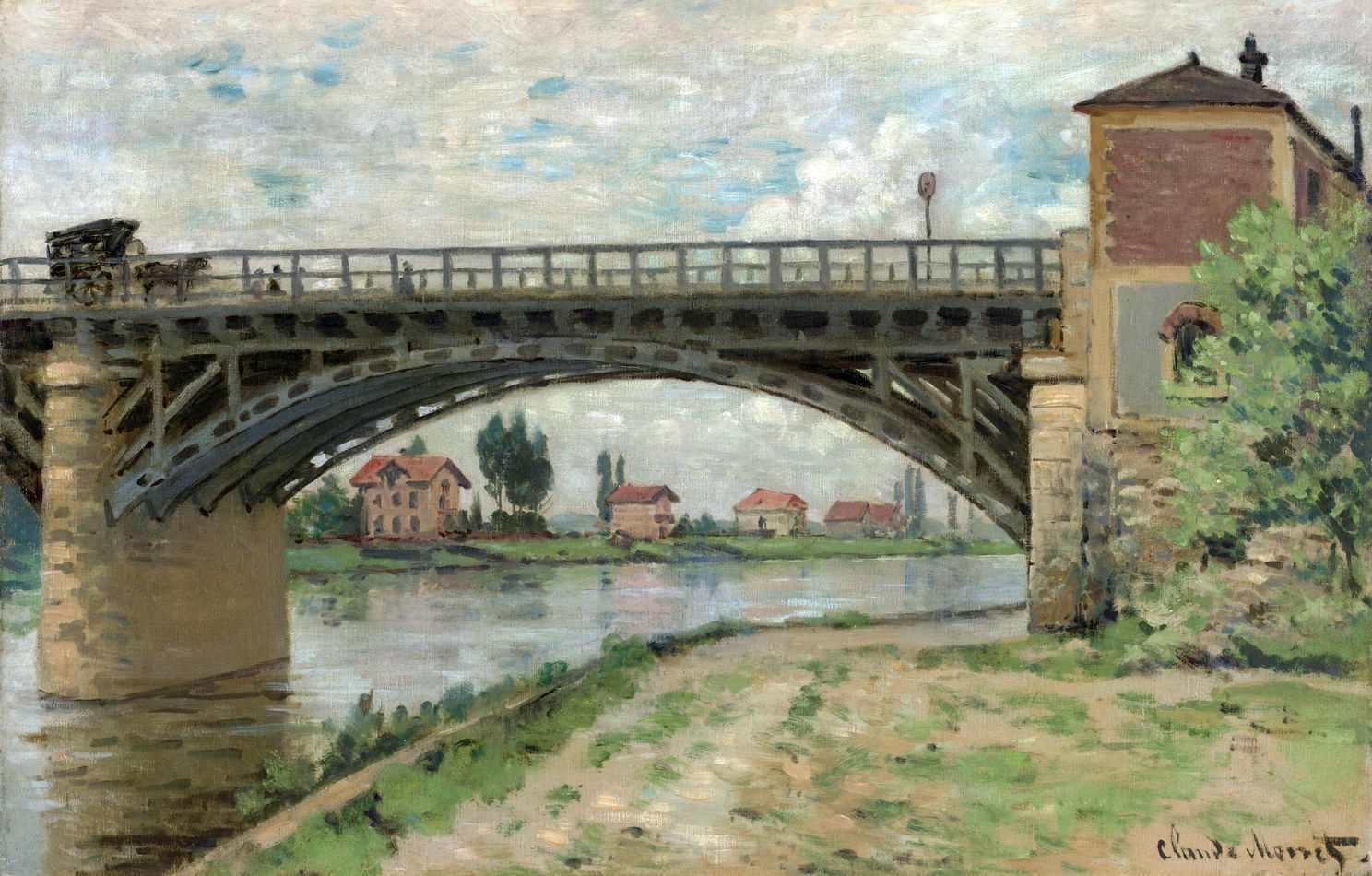 A Ponte de Argenteuil (1873) de Claude Monet | Tela para Quadro na  Santhatela