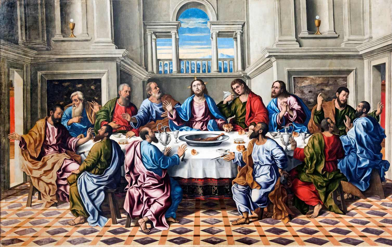 A Ultima Ceia 1519 De Francesco Da Santacroce Tela Para Quadro
