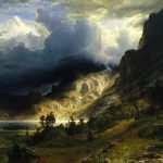 Tempestade nas Montanhas Rochosas