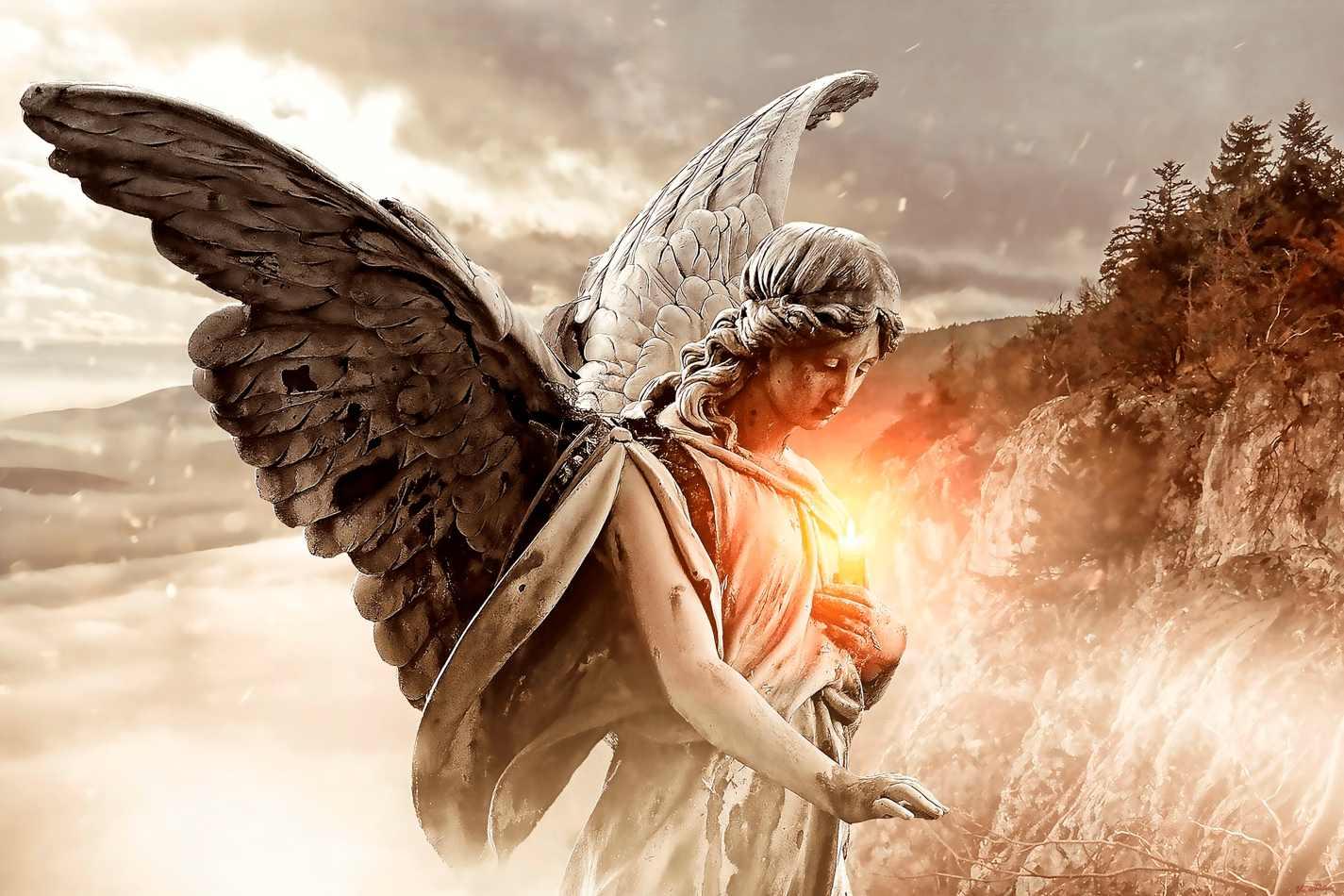 O Anjo da Guarda e a Chama Divina (2019) de Vince Pietrov | Tela para  Quadro na Santhatela